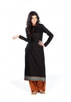 Black/Brown Linen Suit