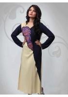 Cream/Black Thread Embroidered Linen Suit