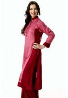 Tea Pink/Maroon Linen Suit