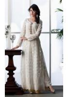 White Jamawar Chiffon Suit