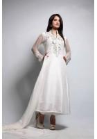 White Crinkle Chiffon Suit