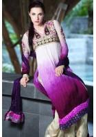 Multicolor Crinkle Chiffon Suit
