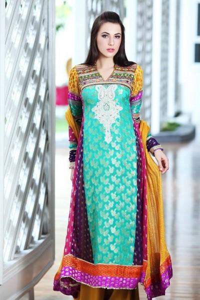 Multicolor Jamawar Suit