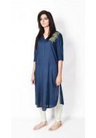 Blue Linen Kurti