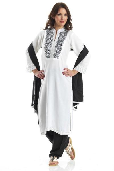 White Georgette Suit