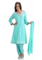 Light Turquoise Chiffon Suit