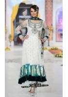 White  Anarkali Jamawar Chiffon